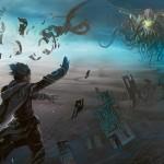 Rise of the Eldrazi - Jace, the Mind Sculptor battles an Eldrazi