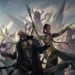 Rise of the Eldrazi - Nissa and Sorin fighting a horde of Eldrazi